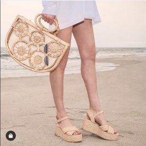 New in Box Steve Madden Pam Raffia Wedge Sandals